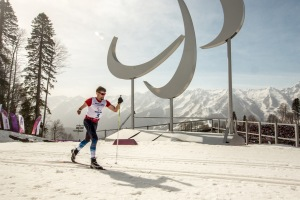 Photo by Michael Clubine John Oman has traded in the cold of his hometown of Hudson, Wis for the slightly warmer Russia as he competes in the Cross-Country 20km at the 2014 Paralympics in Sochi.