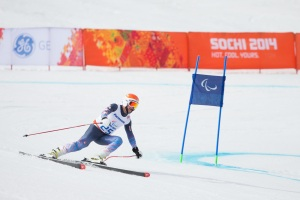 Mark Bathum takes on the snow in Sochi