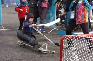 sled hockey demo - photo by Katie Harris