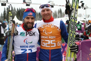 photo by Carter Farmer Kevin Burton and  David Chamberlain, Burton's guide for most of the Paralympics, have been working together for two years and compete well as a team.
