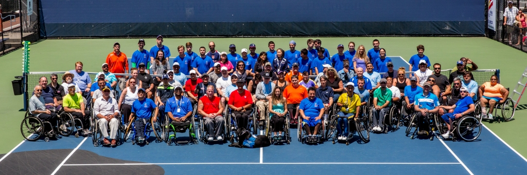 photo by Michael A. Clubine Ninety-four players from around the world gathered for the 14th Annual Jana Hunsaker Memorial Wheelchair Tennis Tournament.
