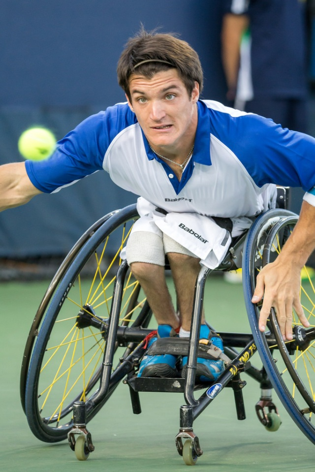 photo by Michael A. Clubine  Gustavo Fernandez (ARG) competed against Shingo Kunieda (JPN; 1) in the Men's Singles Final.