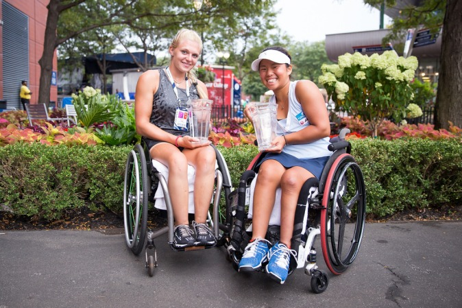Jordanne Whiley and Yui Kamiji