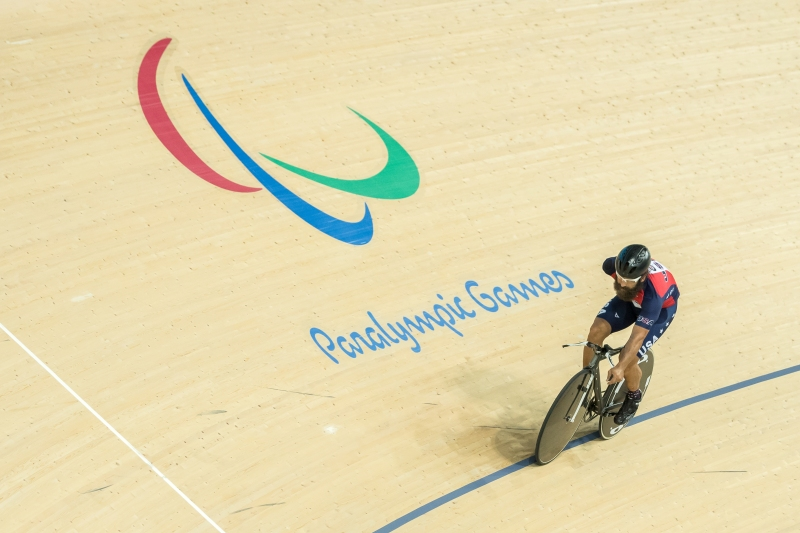 Joe Berenyi Paralympic Cyclist, 4x World Champion trains 2 days before competition starts.