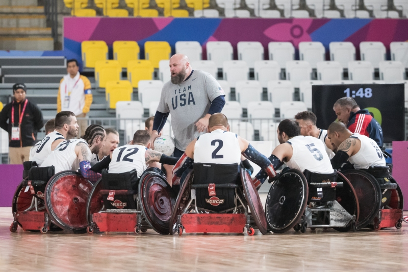 Team USA in THe Huddle
